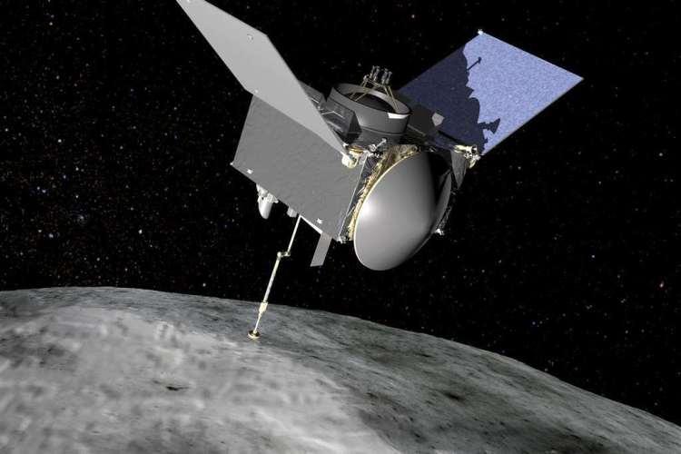 Zo gaat OSIRIS-REx materiaal stelen van Bennu.