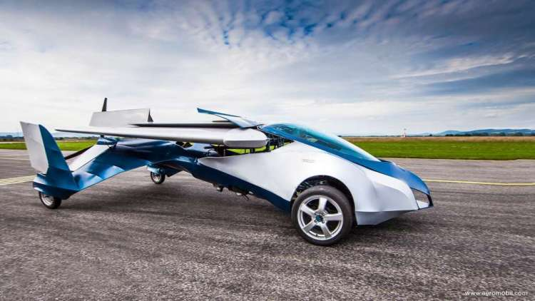Mooi is 'ie wel, deze vliegende auto.