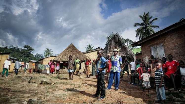 Het Guineese dorpje Meliandou. Foto: Amrai Coen.