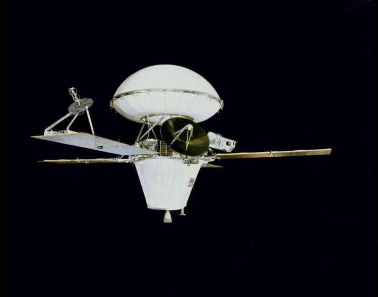 Viking 1 (de lander zit bovenop). Afbeelding: NASA.