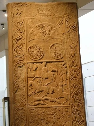 Hilton of Cadboll stone with Pictish symbols