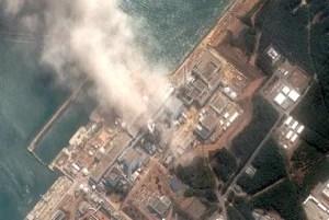 satellite image of Fukushima Daiichi explosion