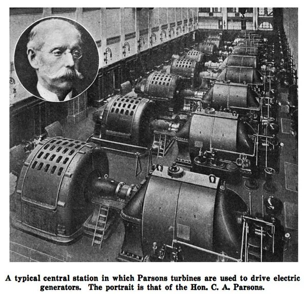Parson's turbines