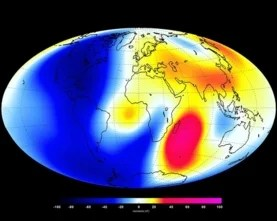 Changes measured by the Swarm satellite