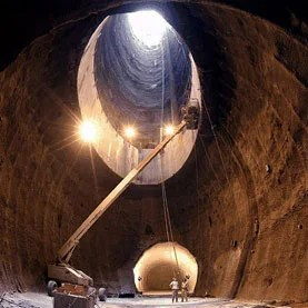 Image of a tunnel dug for the Superconducting Super Collider