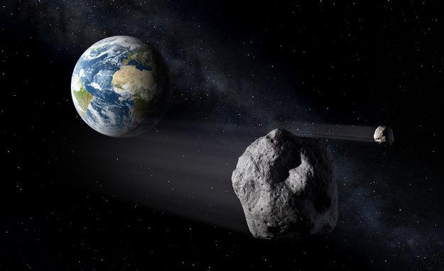 Visione artistica di un asteroide che passa vicino alla Terra - Image ESA-P. Carril