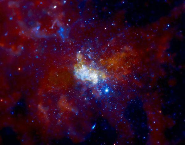Il centro della Via Lattea, dove pensiamo si trovi un enorme buco nero. (immagine di NASA/CXC/MIT/F. Baganoff, R. Shcherbakov et al.)