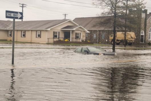 Inondazione nel Maryland durante l'uragano Sandy (2012) (CC Maryland National Guard)