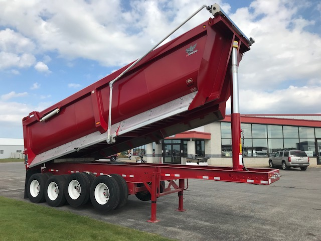 27' STEEL QUAD AXLE DUMP TRAILER