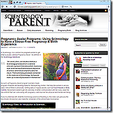 Article: More on Scientology auditing to assist with stress relief related to pregnancy and birth.