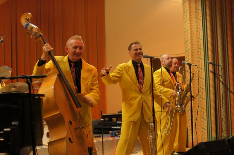 The Jive Aces (http://www.jiveaces.com) playing at the Glen Echo Spanish Ballroom, 5 April 2014.
