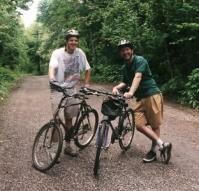 My dad and I out mountain biking