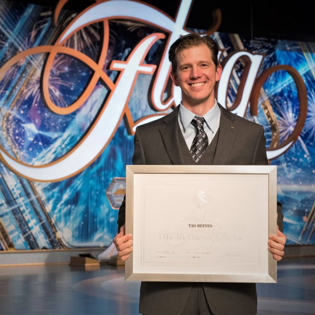Getting presented with my Clear certificate at Flag - the mother Church of Scientology in Clearwater, Florida.