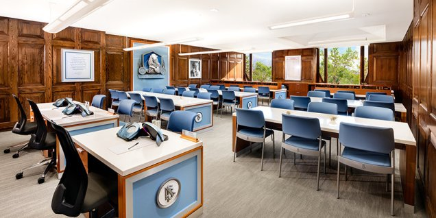 The Scientology Academy in the Church of Scientology Salt Lake City, where Scientologists train to be able to both better their own lives, as well as train to be able to deliver Scientology auditing.