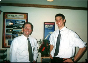 My dad and I when we both were staff together at the Founding Church of Scientology in Washington, D.C. circa mid-2000
