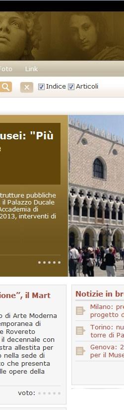 Screenshot della HomePage di MuseiD-Italia di oggi
