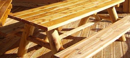mobilier meleze meleze bois rond