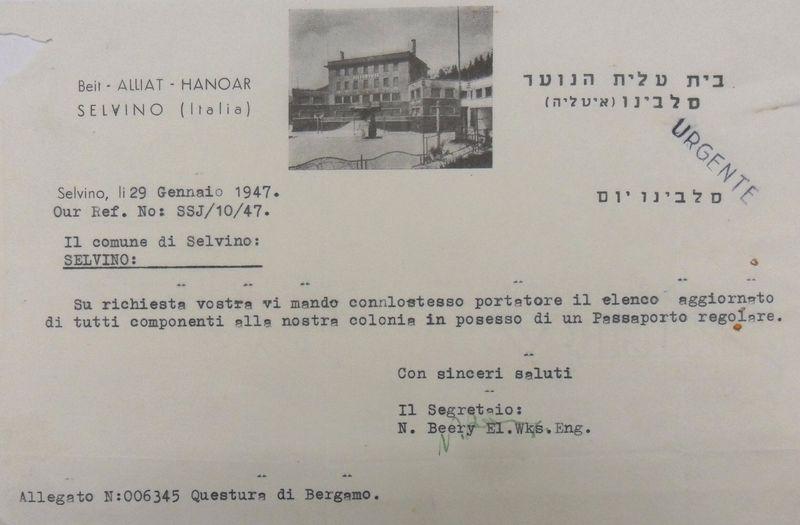 47-01-29 lettera intestata Sciesopoli