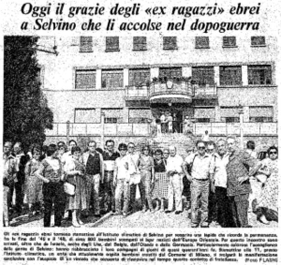 1983-saluto ex-bambini di Selvino