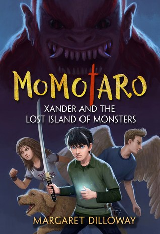 Momotaro Xander and the Lost Island of Monsters cover for Margaret Dilloway's Writing Fantasy for Kids Guest Post