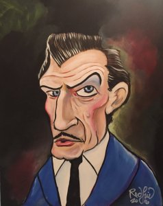 Canvas painting of Vincent Price