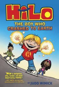 Book cover for Hilo The Boy Who Crashed to Earth