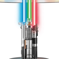 Star Wars Lamp With Illuminated Lightsabers - Sci-Fi Design