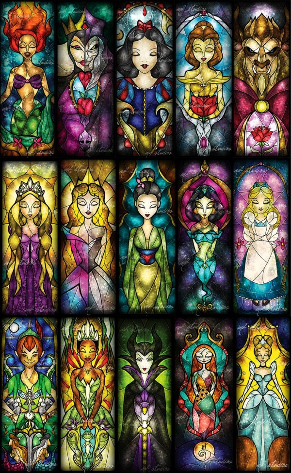 Amazing Geek Stained Glass-style Art - Sci-fi Design