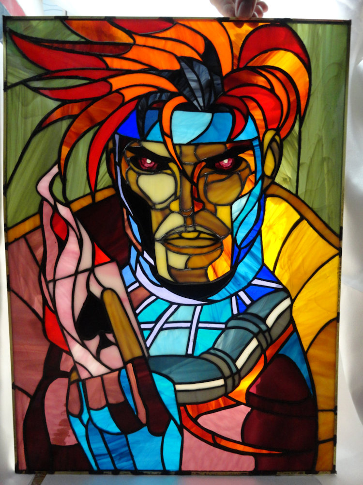 Amazing Stained Glass Geek Portraits Sci Fi Design