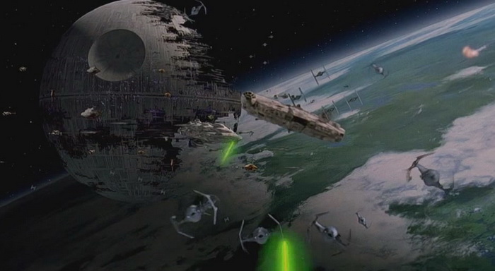 Image result for return of the jedi space shots