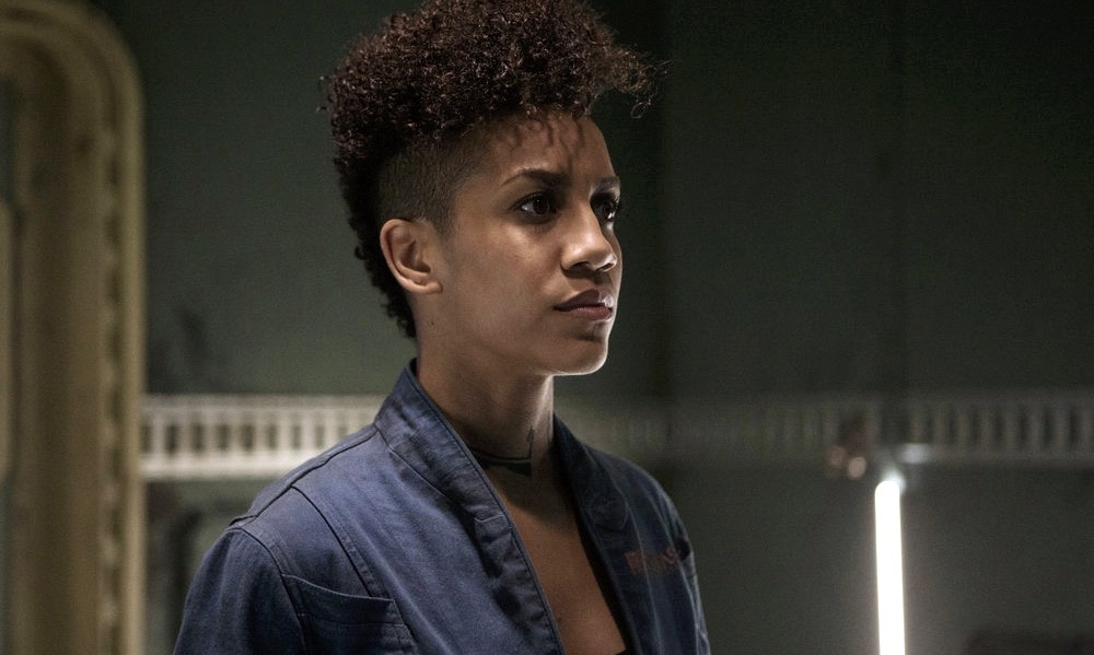 "THE EXPANSE -- ""The Monster and the Rocket"" Episode 212 -- Pictured: Dominique Tipper as Naomi Nagata -- (Photo by: Rafy/Syfy)"