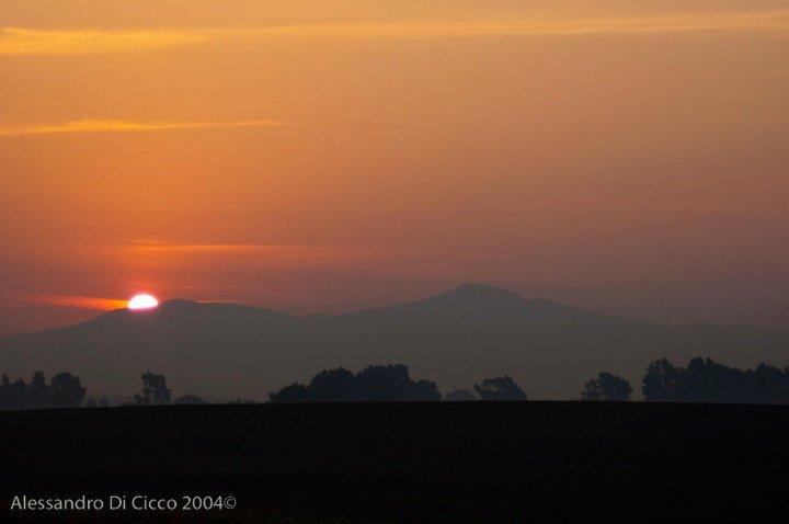 alba romana - dusk over Rome countryside
