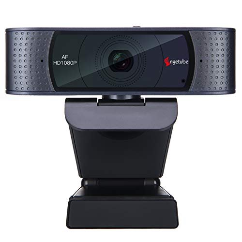 Angetube HD Webcam Webcam 1080P con Coperchio Scorrevole e ...