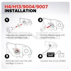 H4 Halogen Bulb Wiring Diagram Yamaha V Star 250 H13 Headlight
