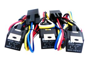 2x 12V 30 Amp Car Automotive Relay 5 Wires 5 Pin Harness