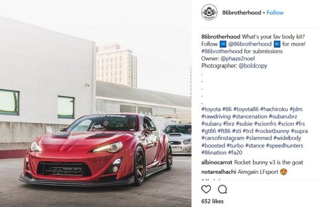 ScionLife.com Instagram Account of the Week #10: 86brotherhood