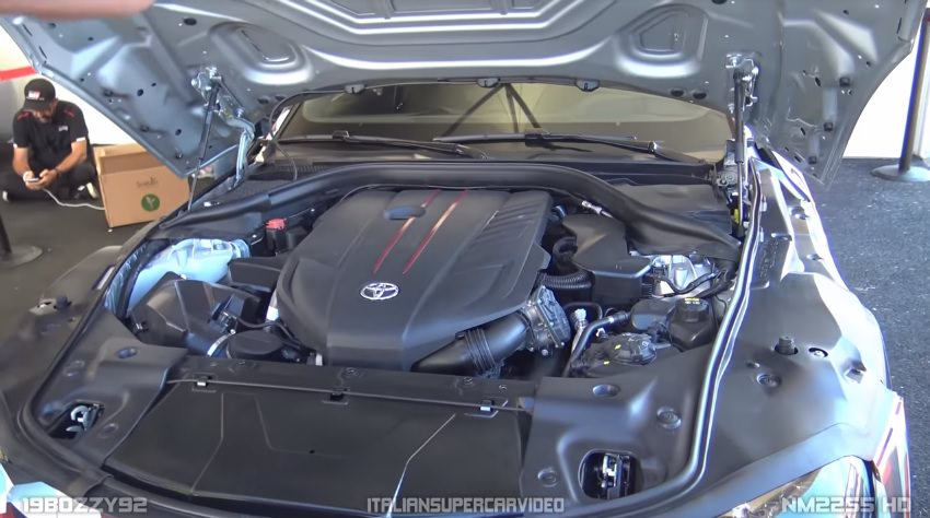 A90 Toyota Supra Turbo Six Cylinder Engine Bay Details Revealed Leaked ScionLife.com
