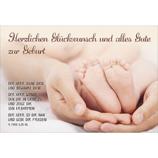 Faltkarte Herzlichen Glckwunsch  Geburt Schreibwaren