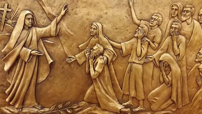 Mary Magdelene Relief Sculpture by Sister Margaret Beaudette, SC