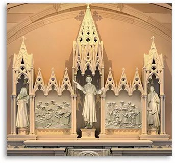 St. Elizabeth Ann Seton altar at St. Patrick's Cathedral