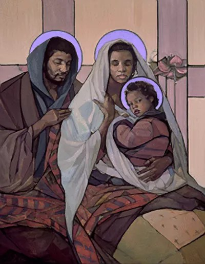The Holy Family by Janet McKenzie