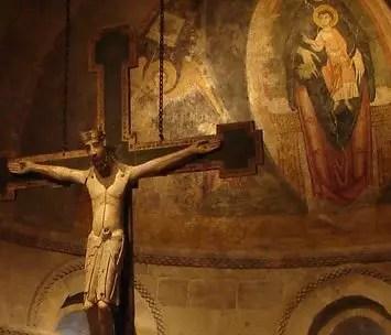 Lent4B Romanesque crucifix Cloisters Rick Morley