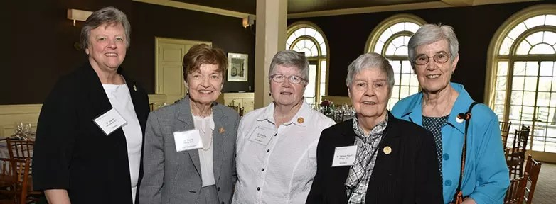 Sisters Karen Helfenstein, Marie Morris, Dorothy Metz, Miriam Kevin Phillips, and Carol Barnes