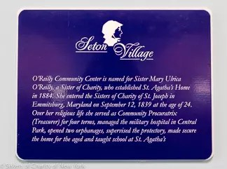 Seton Village Community Plaque