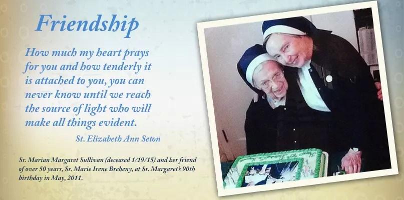 Friendship-Sr. Irene and Sr. Margaret