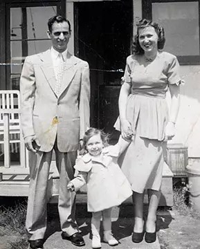 Sister Carol with her parents