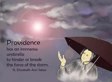 St. Elizabeth Ann Seton & umbrella