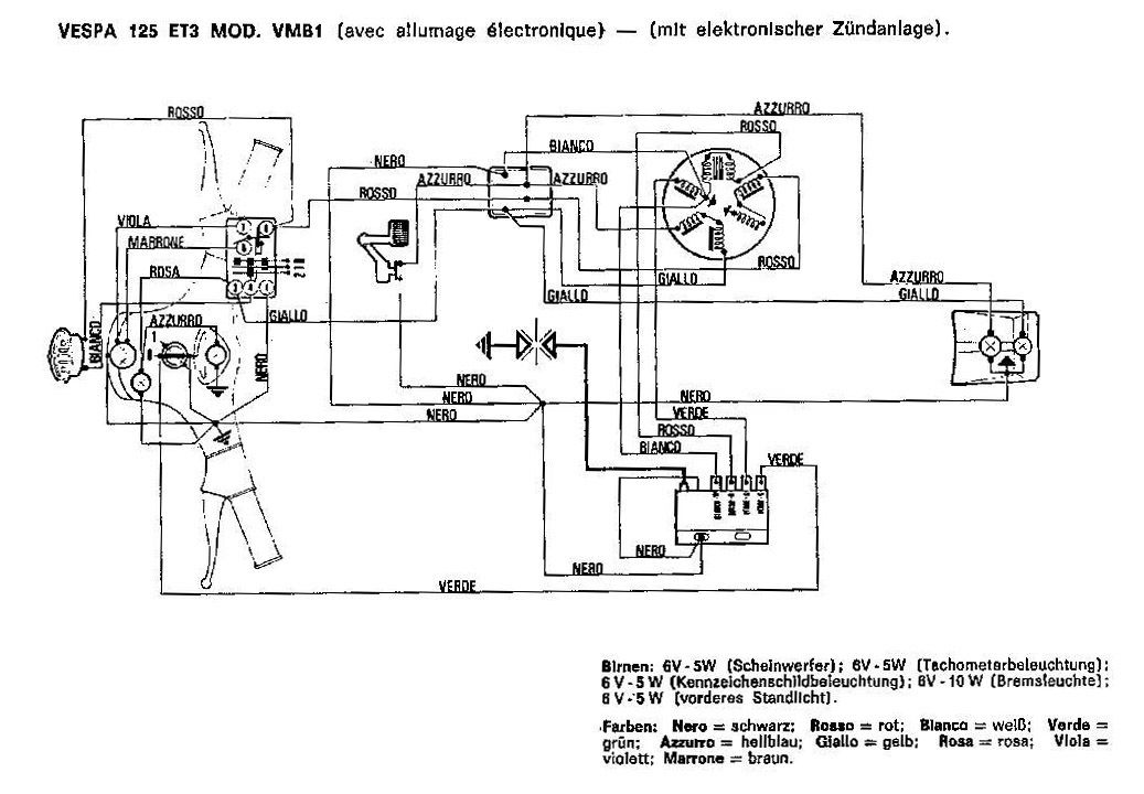 Schema Impianto Elettrico Vespa 125 Primavera Und3