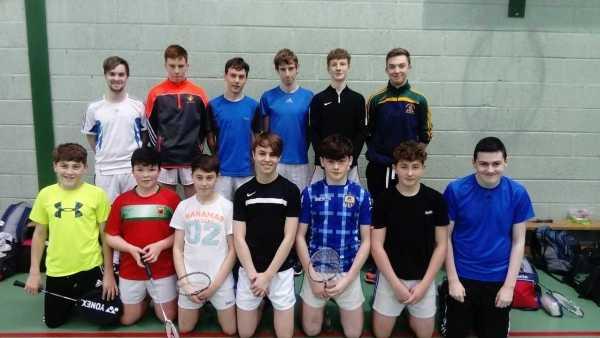 U16 Badminton team from Scoil Mhuire