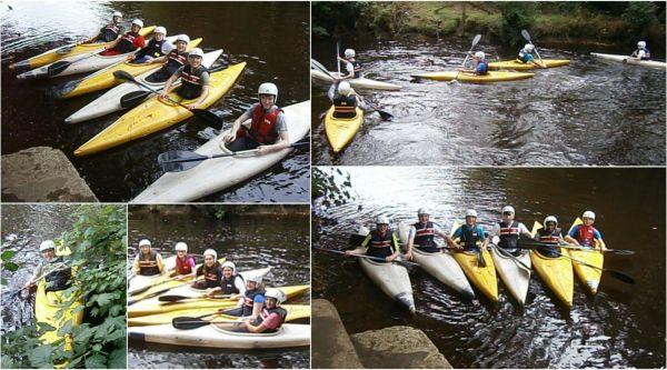kayaking in river duhallow